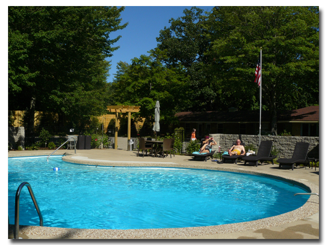 Pool Side at The Saugatuck